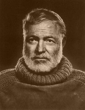 ernest hemingway portrait shawl collar sweater