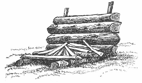 reflector campfire building a fire vintage illustration drawing