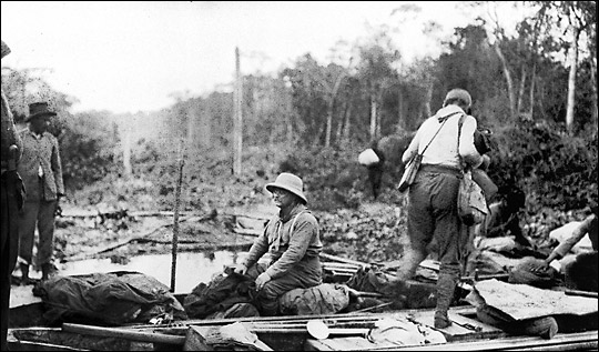 theodore roosevelt in canoe brazil river of doubt