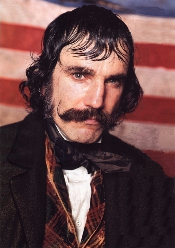Bill the Butcher showing mustache.