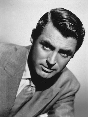 cary grant portrait serious look suit perfect hair