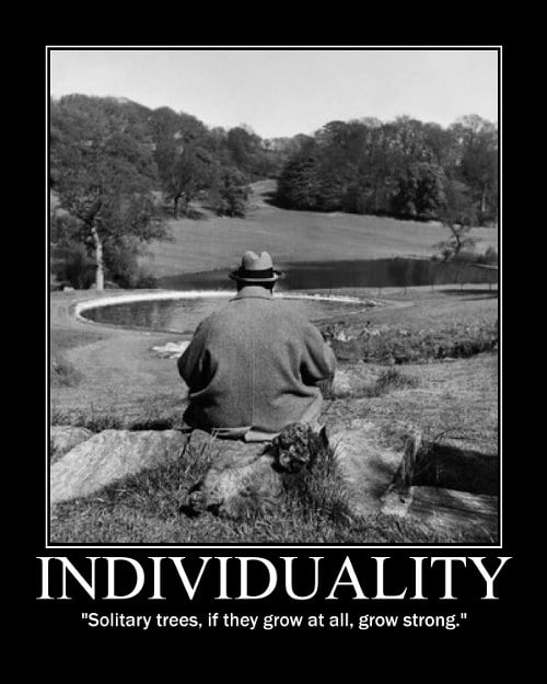 A motivational quote about Individuality by Winston Churchill.