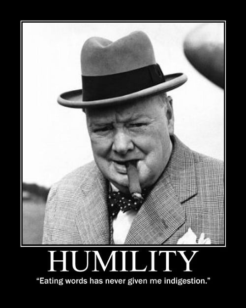 winston churchill eating words indigestion quote motivational poster