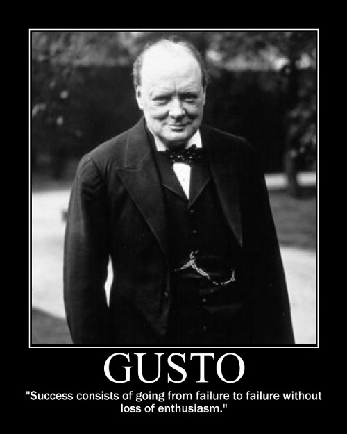 winston churchill failure success quote motivational poster
