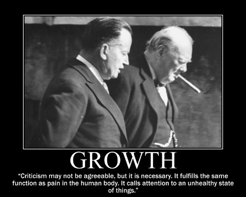 winston churchill criticism quote motivational poster