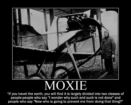 A motivational quote about Moxie by Winston Churchill.
