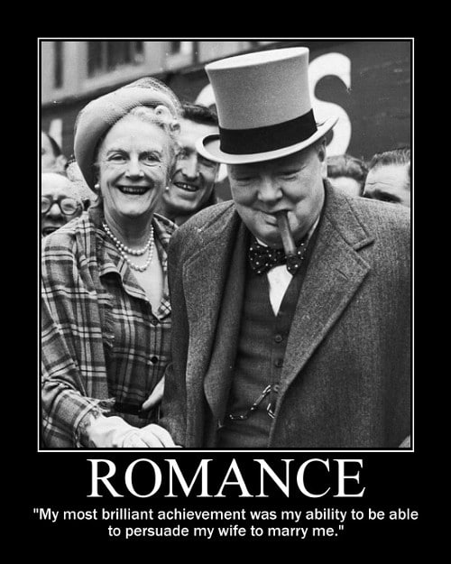 winston churchill marriage wife romance quote motivational poster