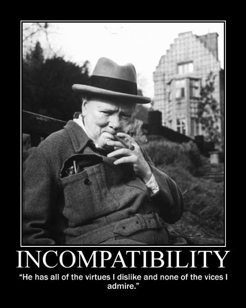 winston churchill virtues vices quote motivational poster