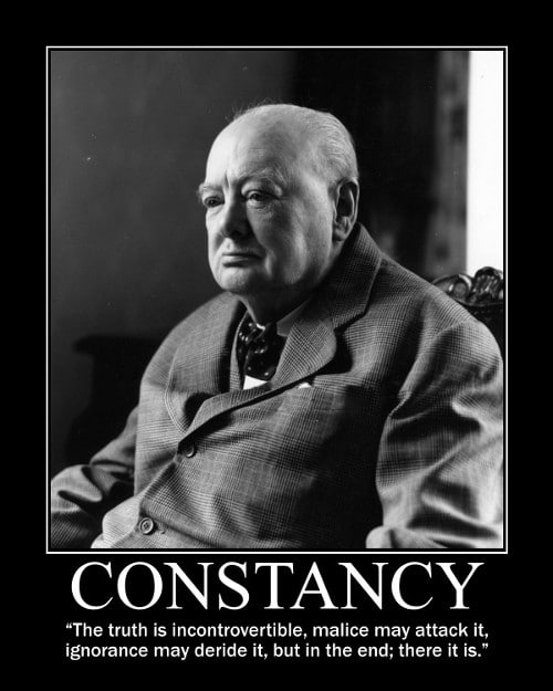 winston churchill truth ignorance quote motivational poster