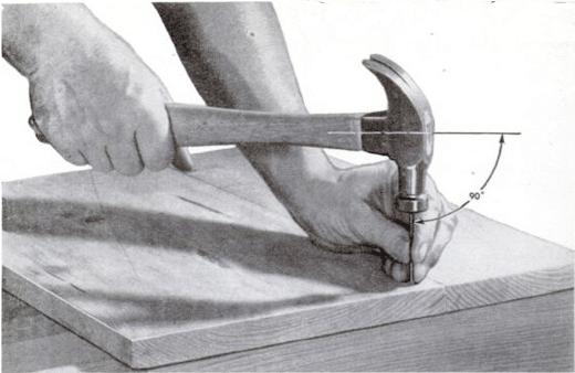 vintage hammer instruction toolmanship illustration