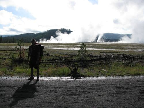 jeff rose backpacker outdoors yellowstone geyser