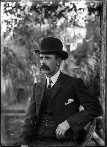 vintage mustache victorian gentleman late 1800s suit