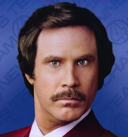ron burgundy will ferrell famous mustache facial hair
