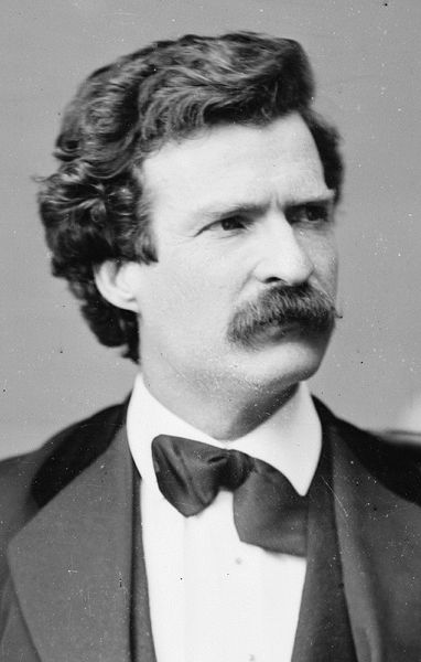 mark twain headshot tuxedo famous mustache facial hair
