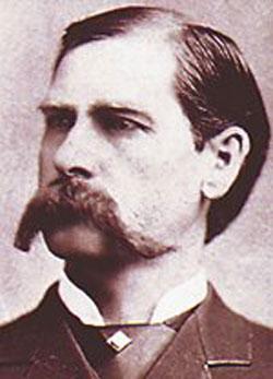 Wyatt Earp's portrait showing mustache.