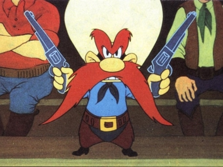 yosemite sam cartoon character famous red mustache