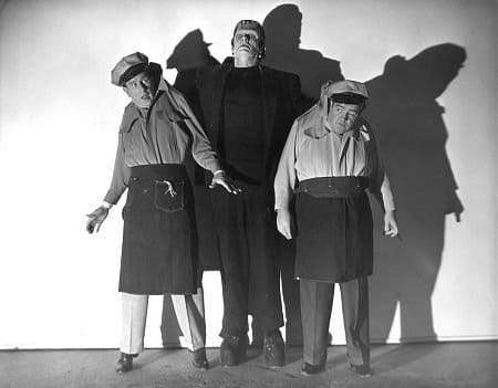 Abbot and Costello Meet Frankenstein movie black white