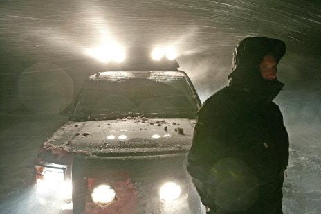 Arthur St. Antoine road test driver land rover snowstorm