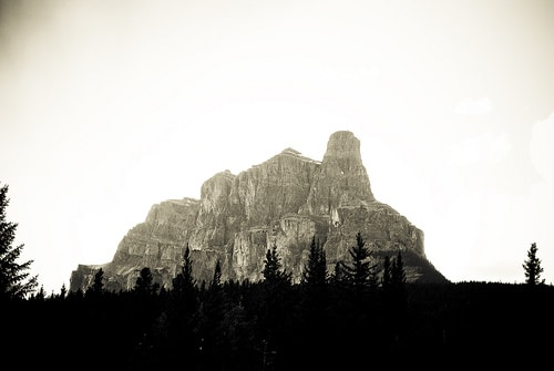 vintage castle mountain banff national park canada