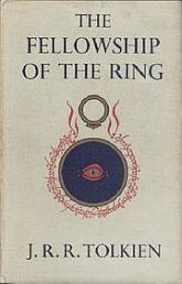"Book cover of ""The Fellowship of the Ring"" by J.R.R.Tolkien."