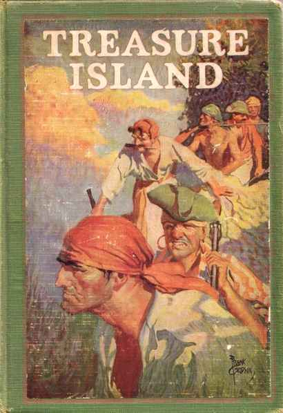 "Book cover of ""Treasure Island"" by Robert Louis Stevenson."