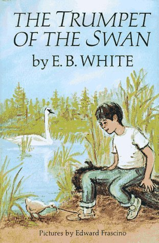 "Book cover of ""The Trumpet of the Swan"" by E.B.White."