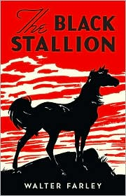 "Book cover of ""The Black Stallion"" by Walter Farley."