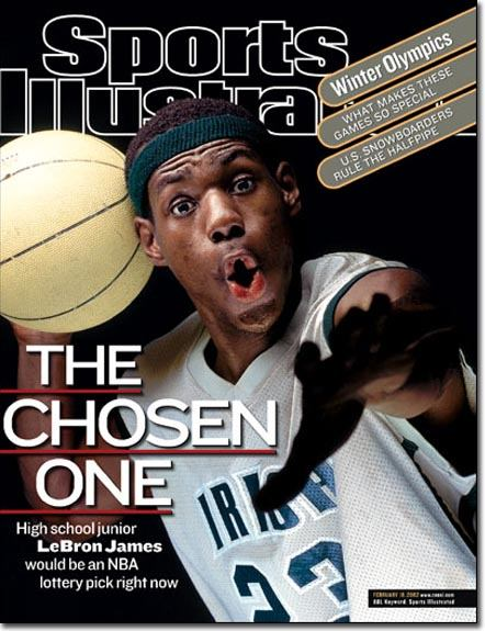 Book cover, the chosen one by Lebron James.