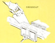 how to use handsaw crosscut illustration