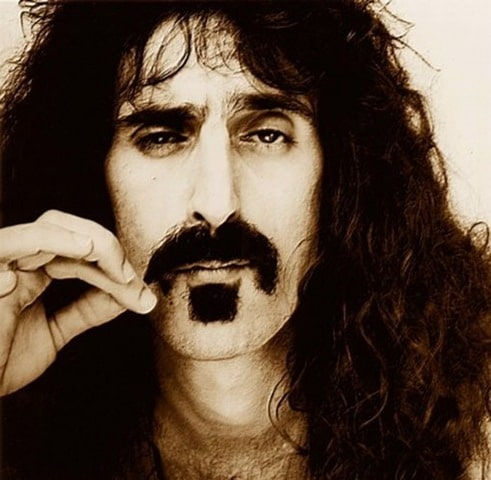 frank zappa guitarist headshot famous mustache