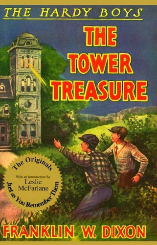 "Book cover of ""The Tower Treasure"" by The Hardy Boys."