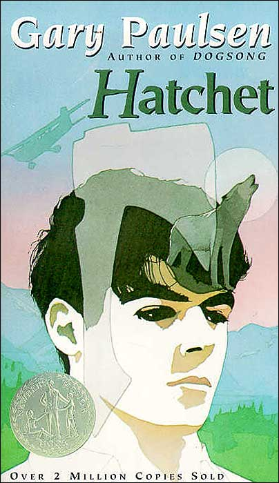 "Book cover of ""Hatchet"" by Gary Paulsen."