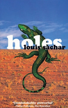 "Book cover of ""Holes"" by louis Sachar."