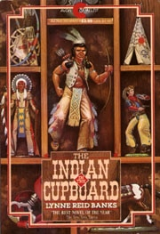 "Book cover of ""The Indian Cupboard"" by Lynne Reid Banks."