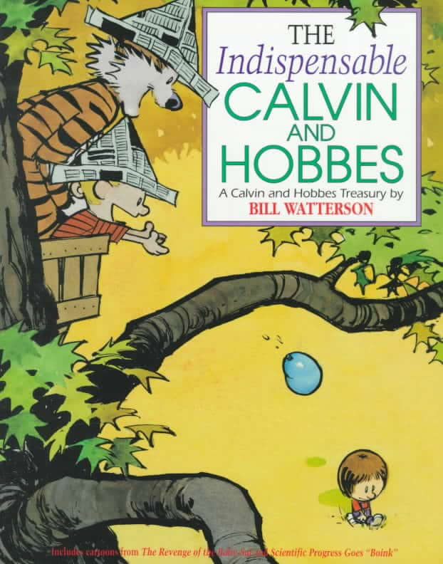 "Book cover of ""The Indispensable Calvin And Hobbes"" by Bill Watterson."