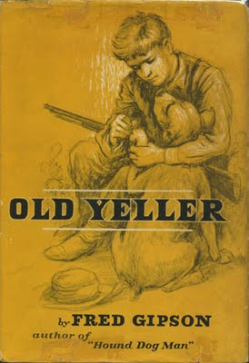 "Book cover of ""Old Yeller"" by Fred Gipson."