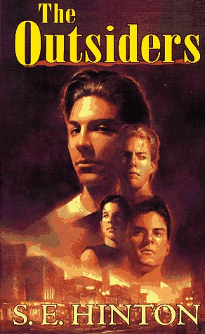 "Book cover of ""The Outsiders"" by S.E.Hinton."
