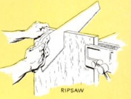 how to use handsaw ripsaw cut illustration