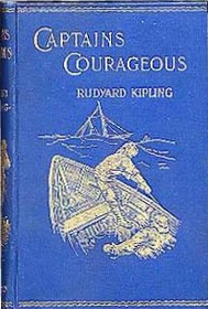 "Book cover of ""Captains Courageous"" by Rudyard Kipling."