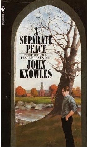 "Book cover of ""A Separate Peace"" by John Knowles."