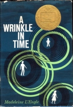 "Book cover of ""A Wrinkle In Time"" by Madeleine L'Engle."