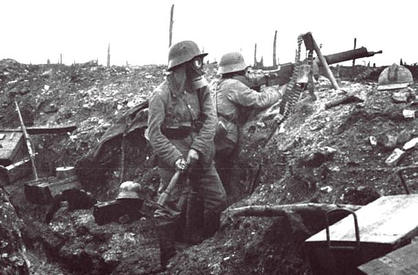 German soldiers at battle of Verdun wwi