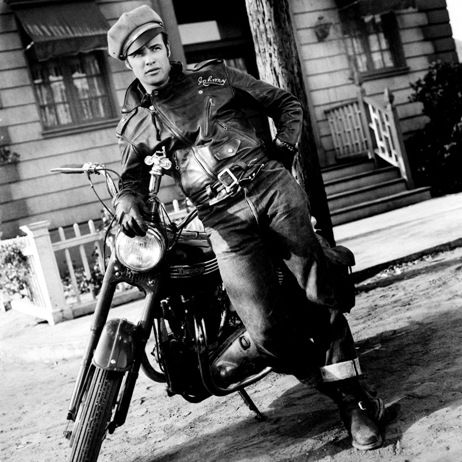 Marlon Brando Motorcyle Wild Ones leather jacket