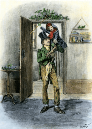 vintage christmas carol illustration victorian