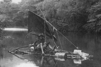 millican dalton on stick boat late 1800s