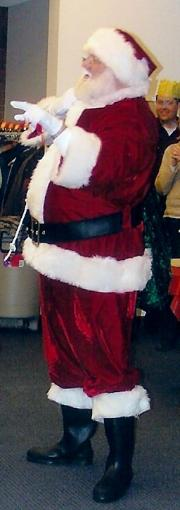 dress up santa claus holiday part time job