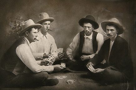 vintage men playing cards smoking late 1800s early 1900s
