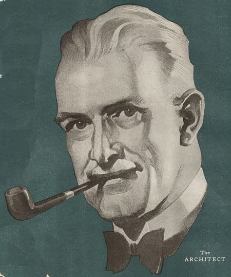 vintage pipe smoking illustration head shot