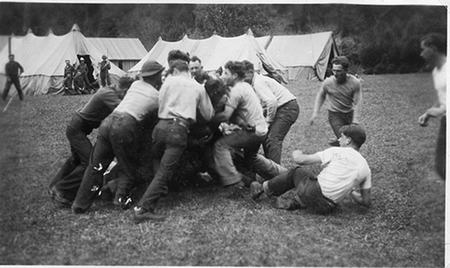 Civilian Conservation Corps ccc enlistees playing football