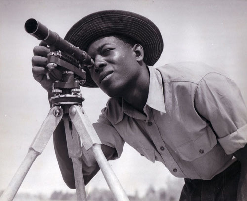 African-American Civilian Conservation Corps surveying